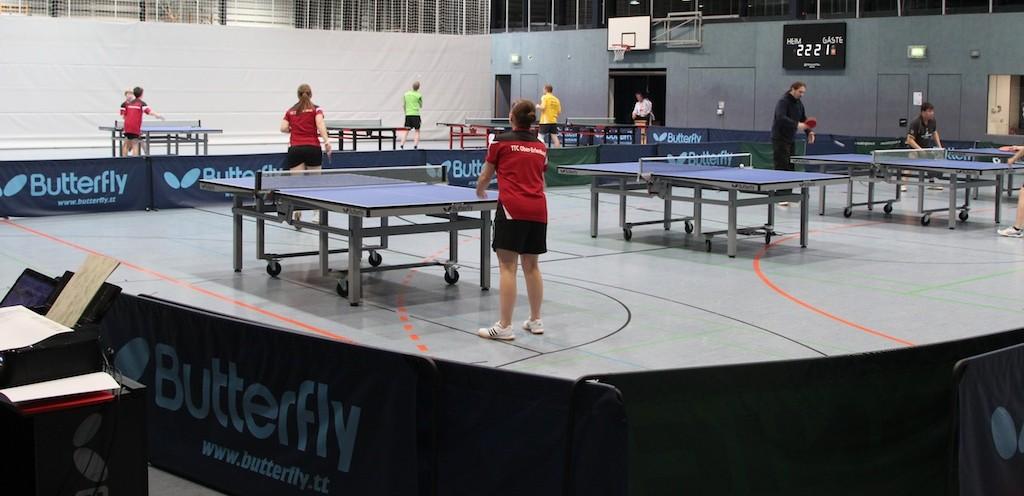 Blick in die Wingert-Sporthalle während der Vereinsmeisterschaft im Einzel