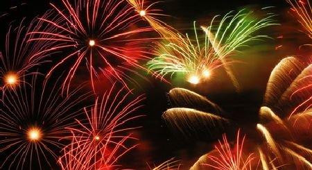 Ein schönes Feuerwerk zum Jahreswechsel