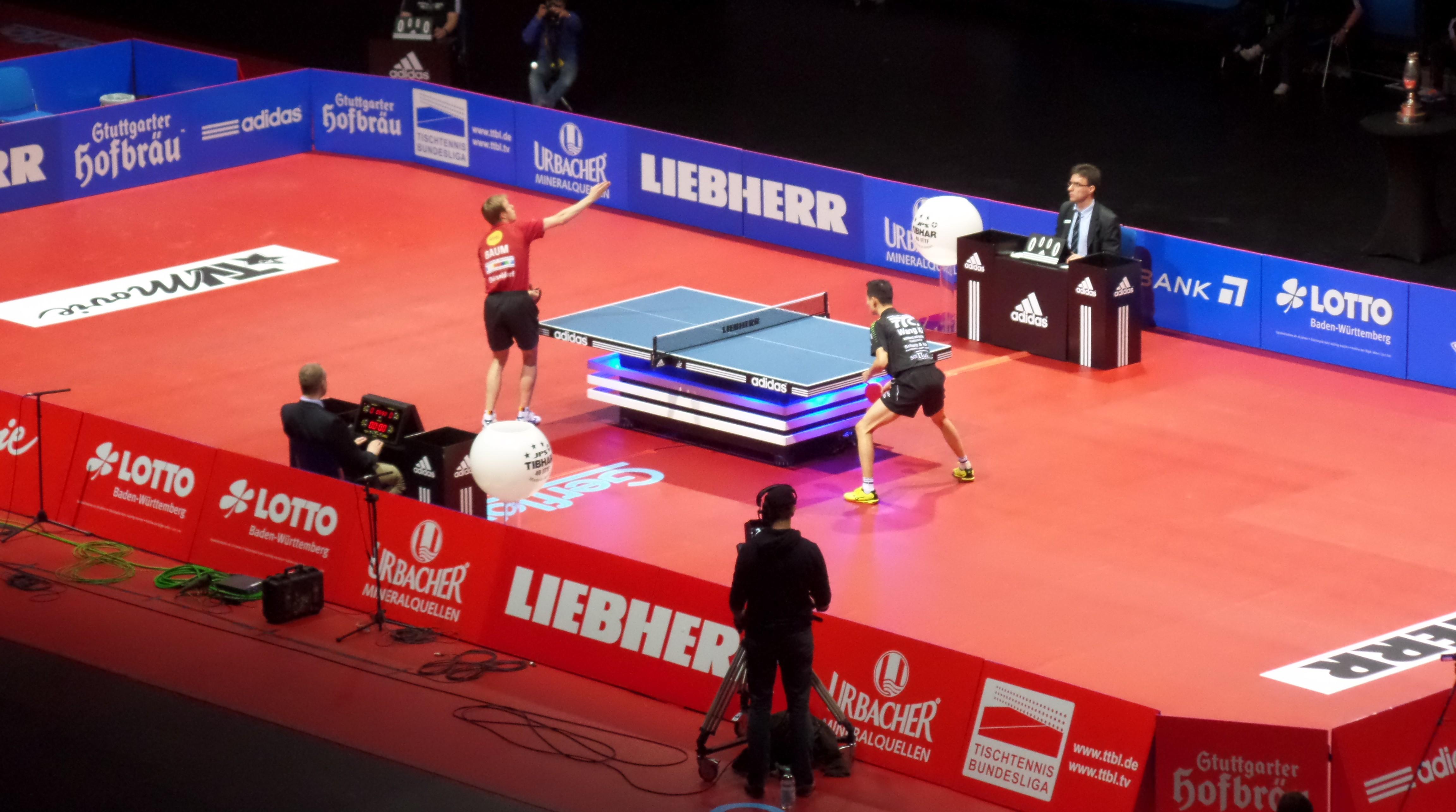 Pokalfinale 1. Spiel Patrick Baum - Wang Xi