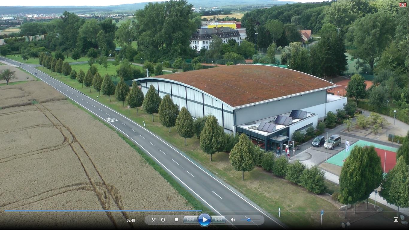 Wingert-Sporthalle und Umgebung von oben mit HEXAKOPTER von Heaven Eye fotografiert