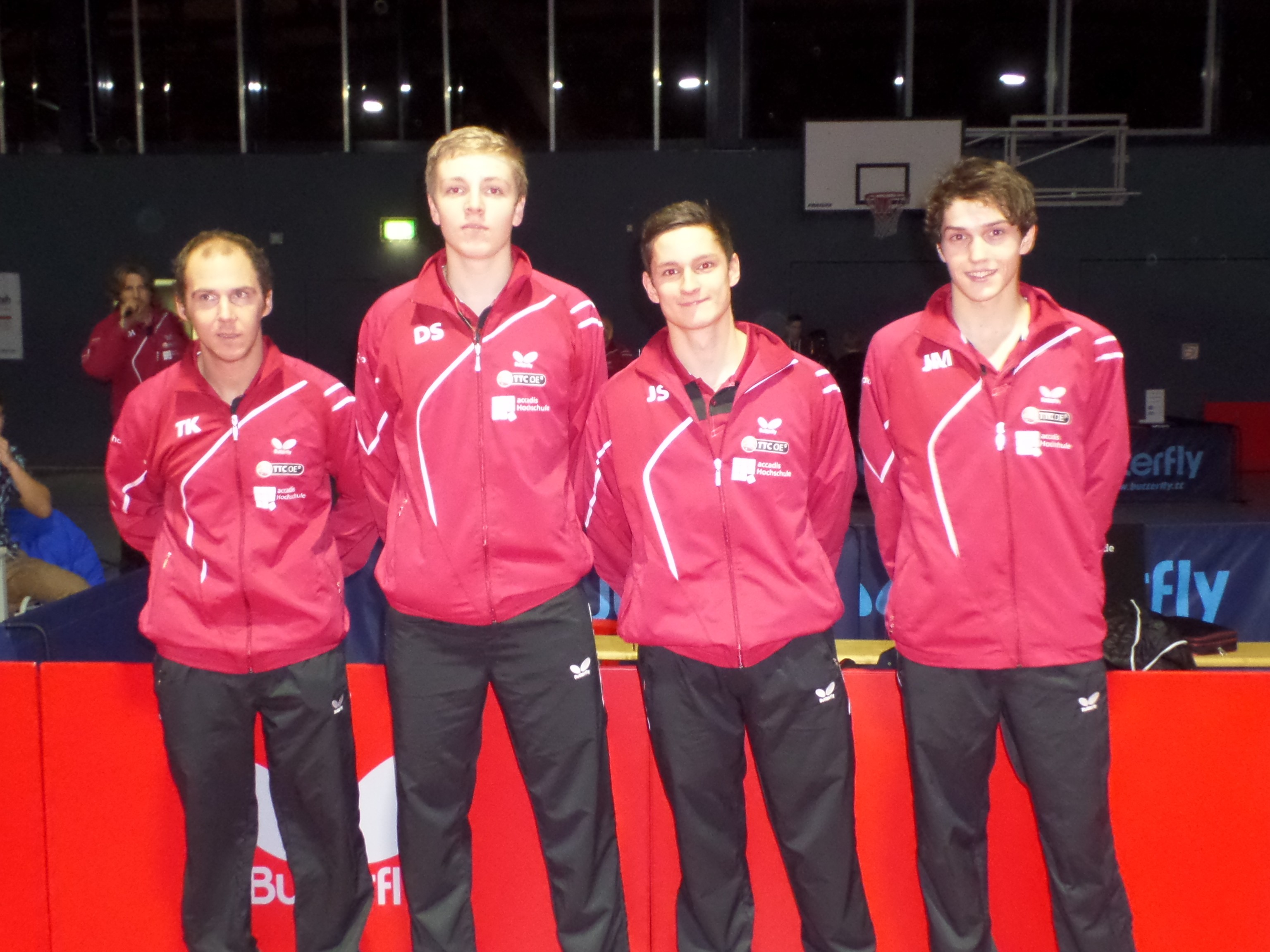 Die Bundesligaspieler des TTC OE