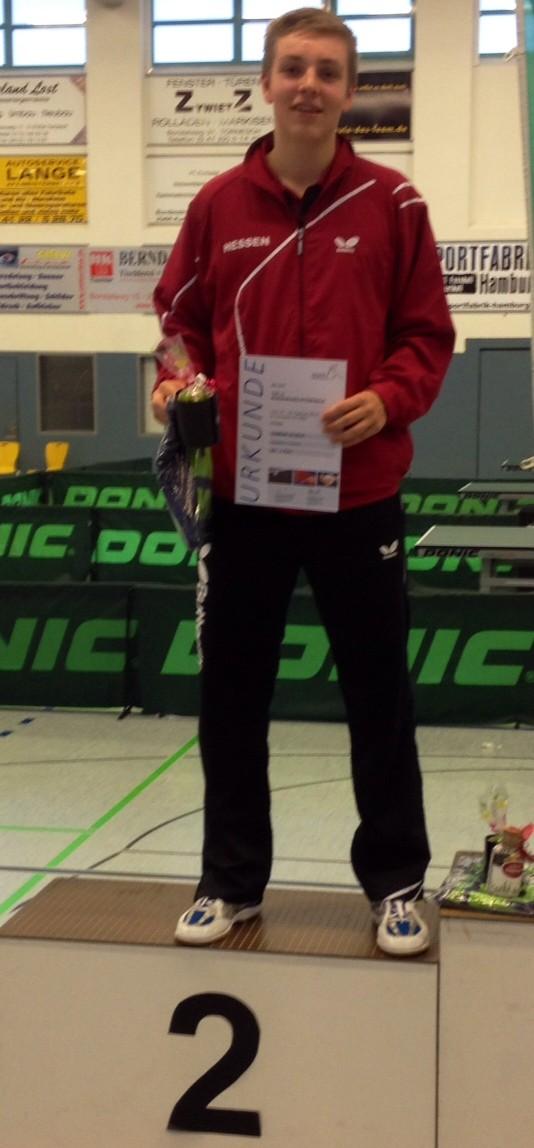 Dominik 2. Platz beim DTTB TOP 12 Tornesch