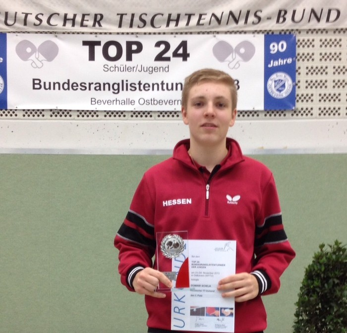 Dominik Scheja 3. Platz Top 24 in Ostbevern