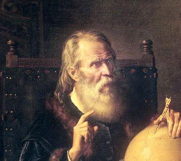 Gemälde von Galileo Galilei, so könnte er ausgesehen haben