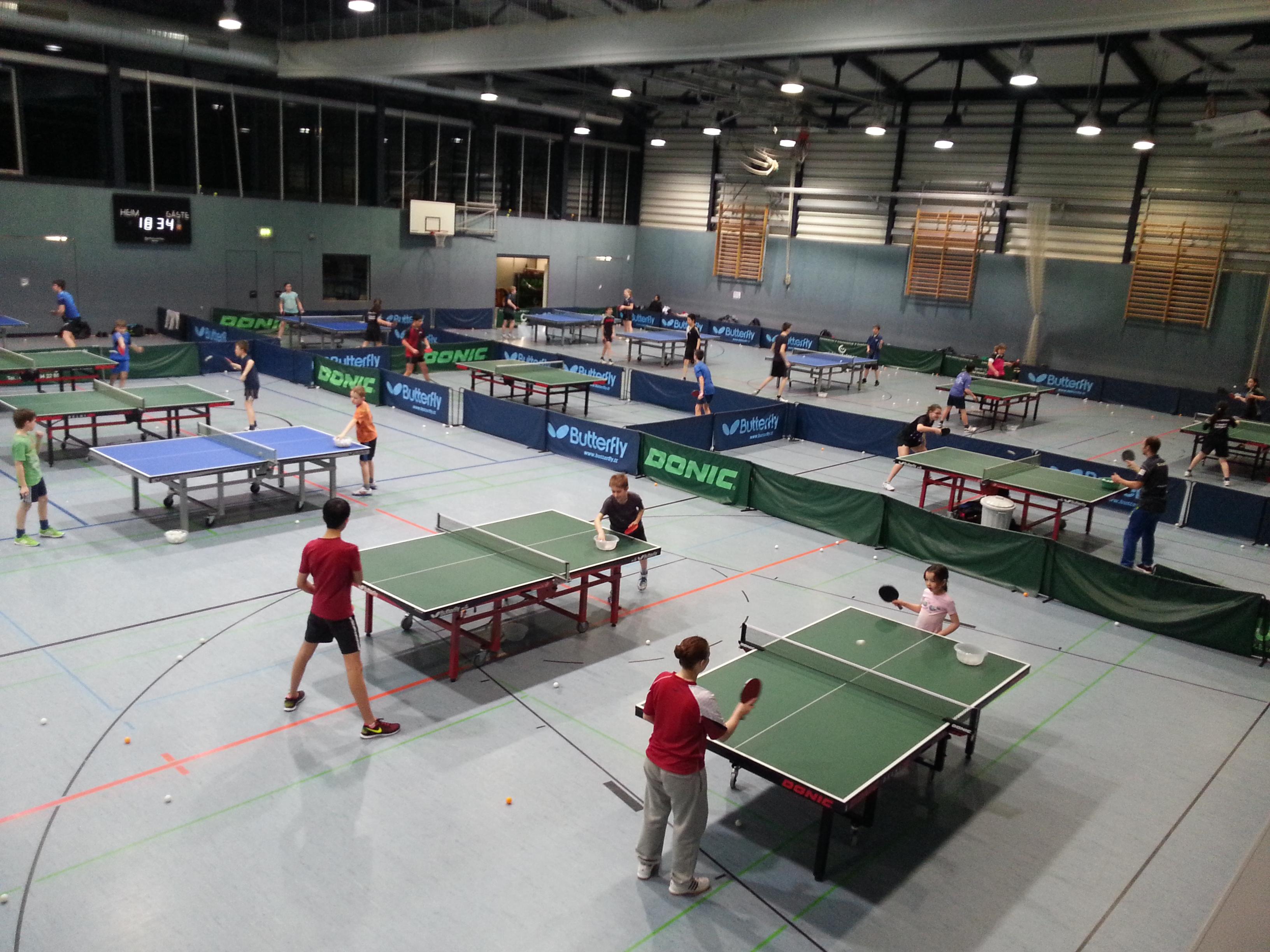Nachwuchstraining in der Wingert-Sporthalle