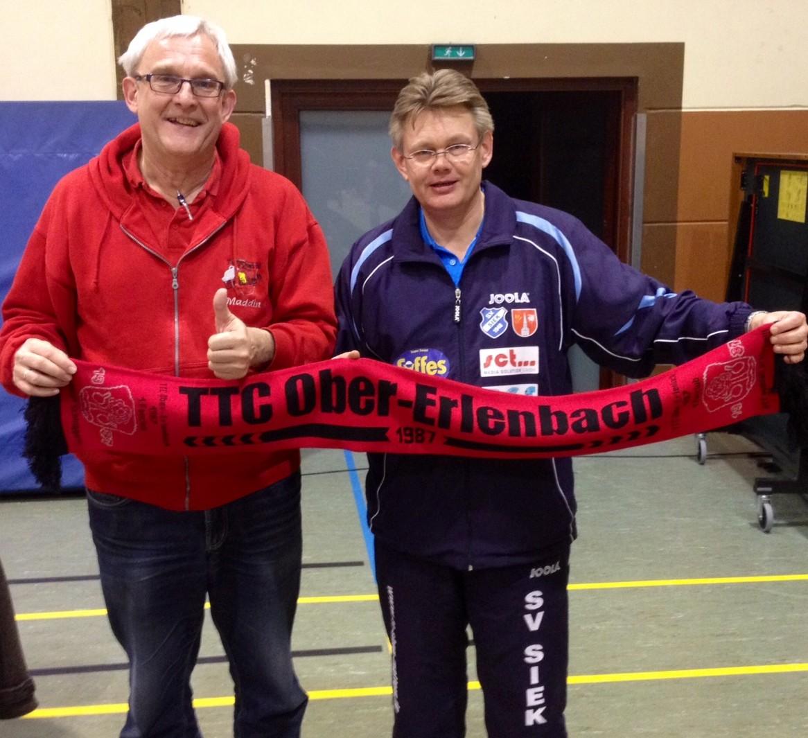 TTCOE-Vors. Martin Baugard und der Macher vom SV Siek Klaus Bergmann