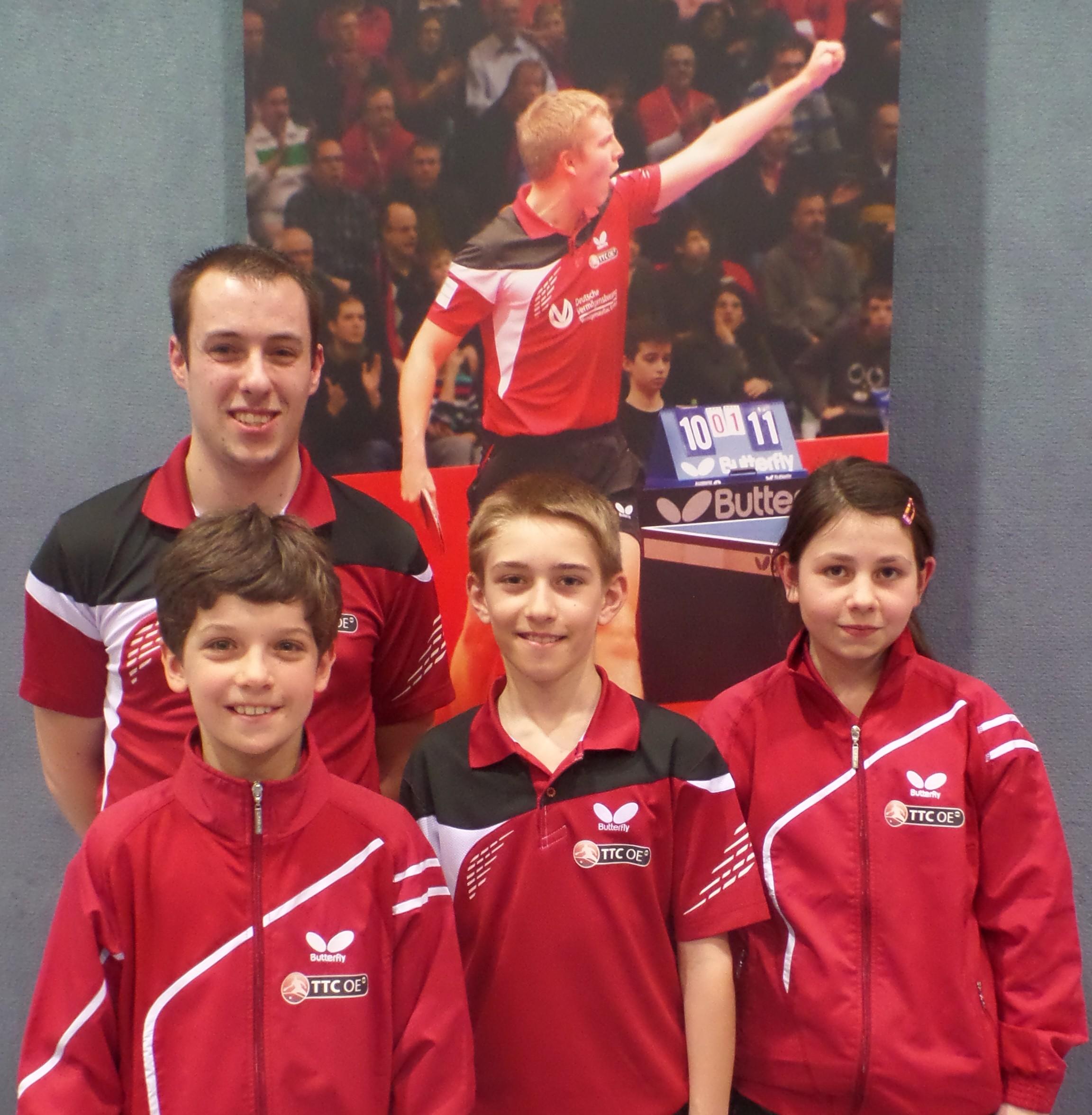 /Jugendwart Sren Sobek mit den erfolgreichen Teilnehmern der BJM.JPG