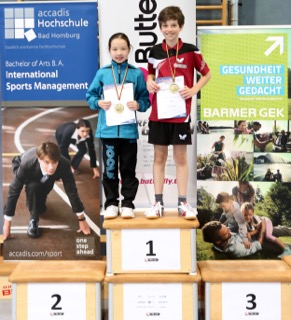 TC OE Nachwuchstalente Sophie Giebener und David Knopf gewinnen ihre Altersklasse