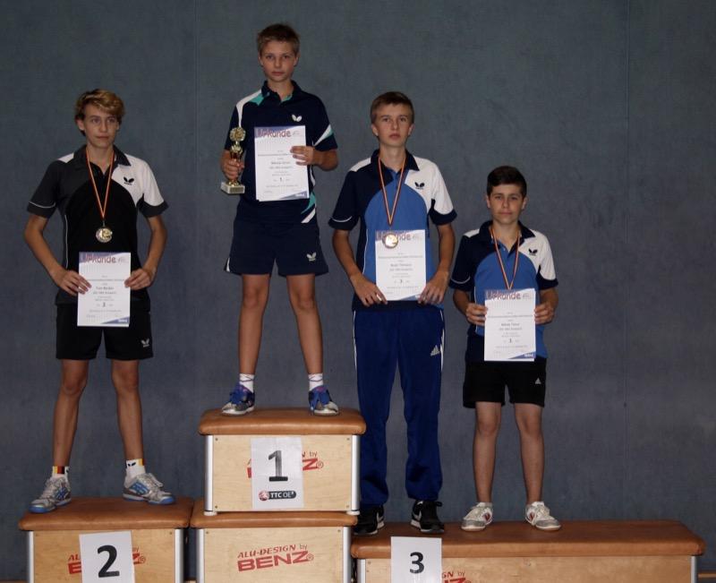 Sieger männliche Jugend Einzel