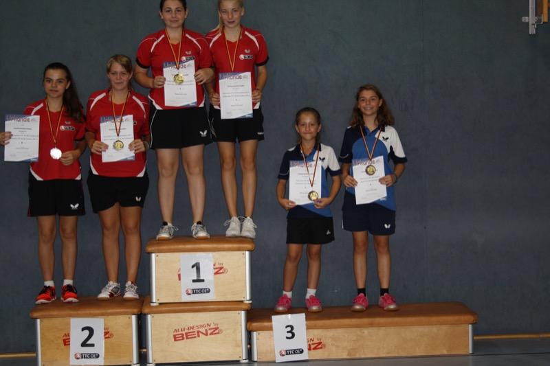 Sieger weibliche Jugend Doppel