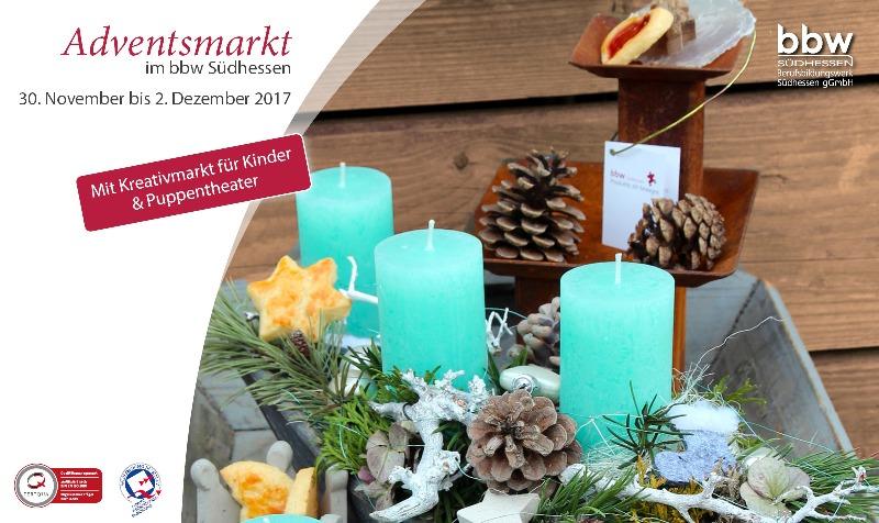 Adventsmarkt im bbw Südhessen