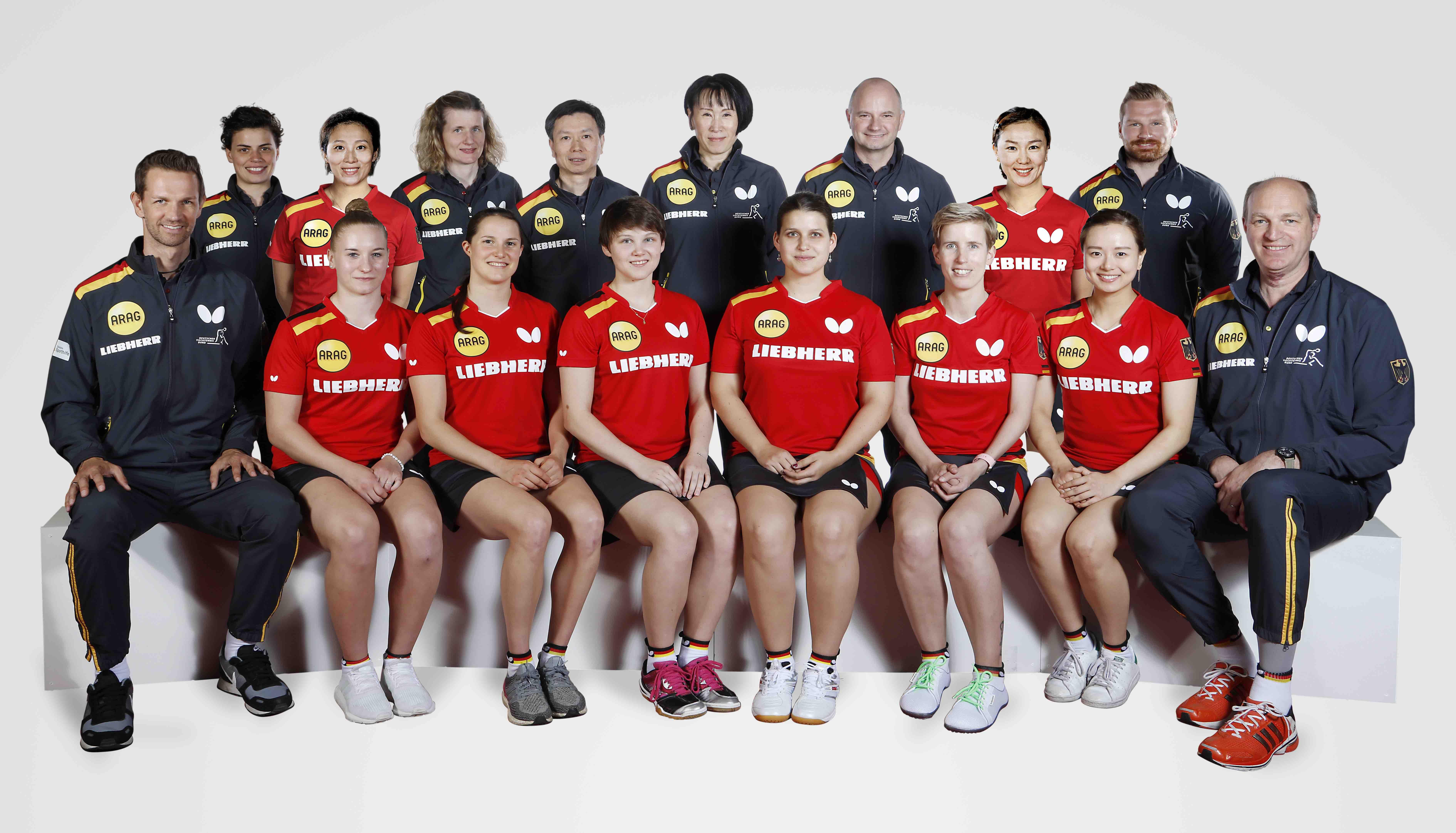 Gesamtkader der deutschen Damen-Nationalmannschaft