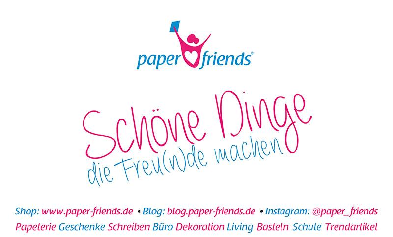 Schild paper friends URLS