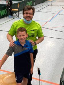 Glücklich über Platz 5: Lukas Vatheuer und Coach Mirko Kupfer