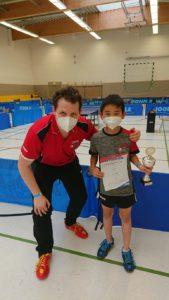 Haru Kubota mit seinem Coach Christian Kaiser